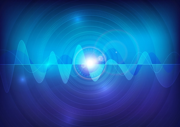 Wave sound vector pulse abstract technology background