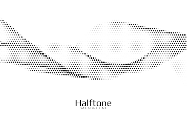 Wave style halftone design background vector