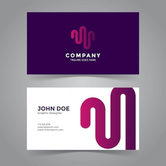 Wave symbol business card template