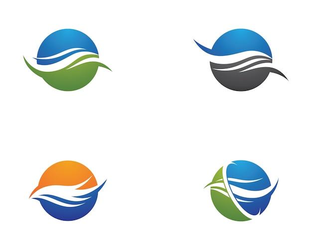 波のシンボルのイラスト
