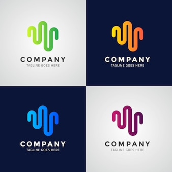 Wave symbol logo design template design