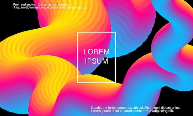 Wave. vibrant background. fluid colors. flow shape