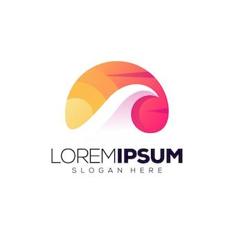 Шаблон логотипа wave