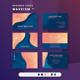 Шаблон визитки waveism 1