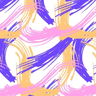 Waves of abstract brush stroke pattern
