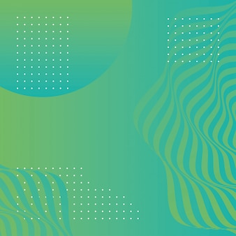 Волны и формы зеленый фон