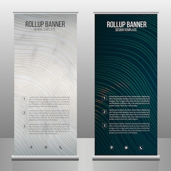 Waves background business roll up template