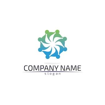 Шаблон логотипа голубая вода волны пляжа