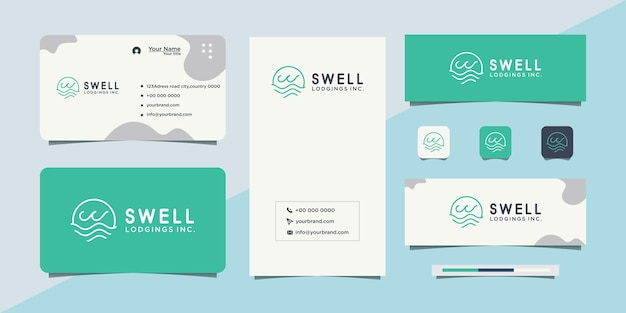 Waves in a circle and business cards