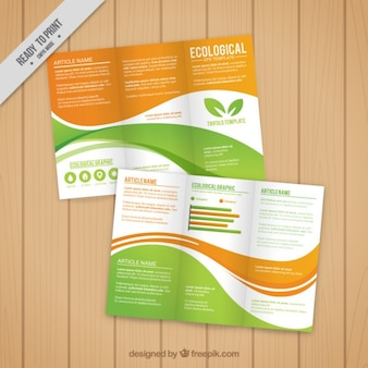 Waves ecological trifold