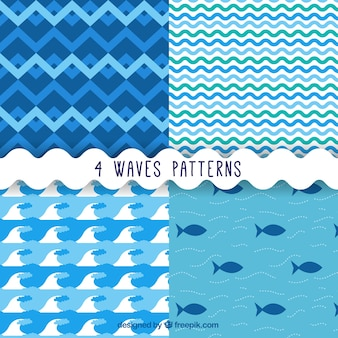 Waves and fishes patterns