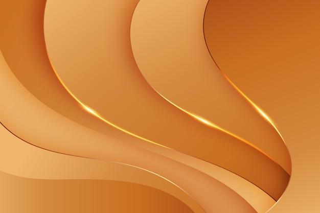 滑らかな金色の背景の波
