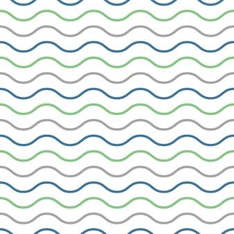 波のパターン、幾何学的なシンプルな背景。エレガントで豪華なスタイルのイラスト