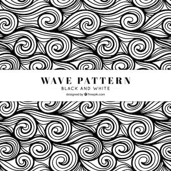 Waves pattern hand drawn