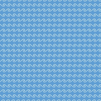 Waves pattern. nautical and summer illustration. abstract geometric background