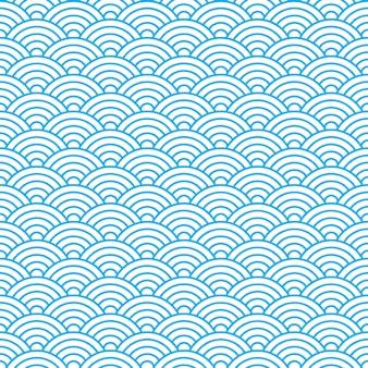 中国古代スタイルの波のシームレスパターン