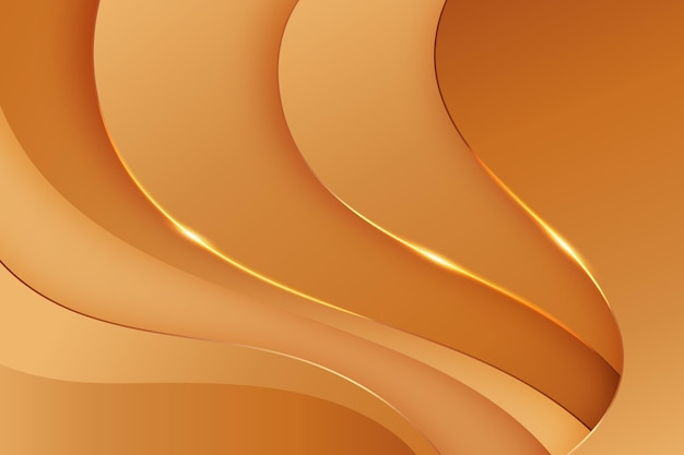 Waves of smooth golden background