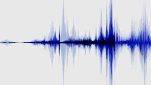Размахивая синей цифровой звуковой волны