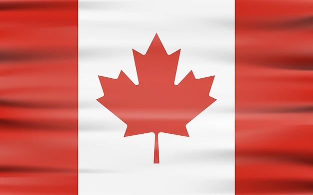 Развевающийся флаг канады, развевающийся форме с тенью