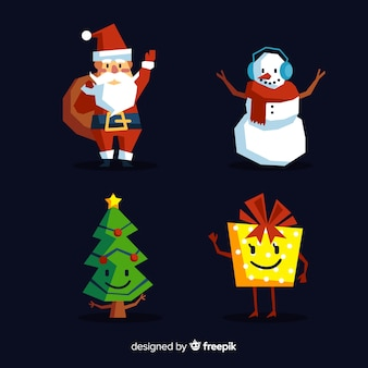 Waving characters christmas collection