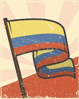 Развевающийся флаг колумбии