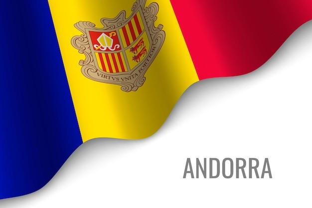 Waving flag of andorra