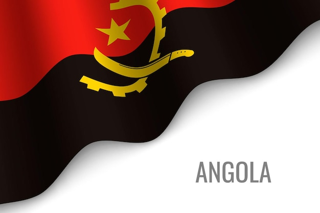 Waving flag of angola