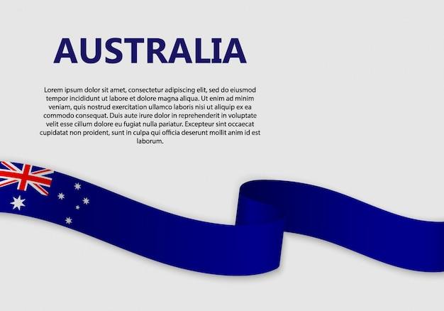 Waving flag of australia banner