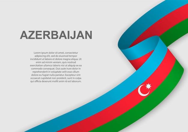 Waving flag of azerbaijan.