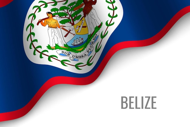 Waving flag of belize  .