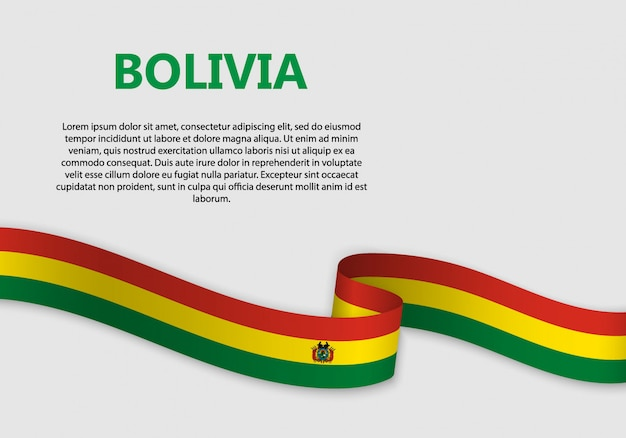 Waving flag of bolivia banner