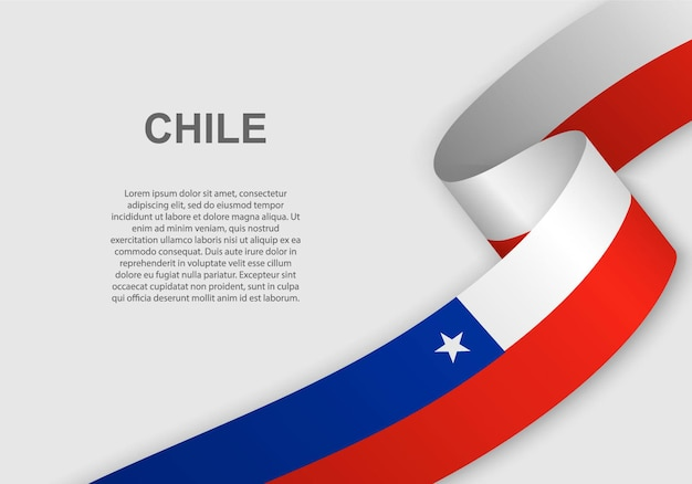 Waving flag of chile.