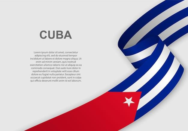 Waving flag of cuba.