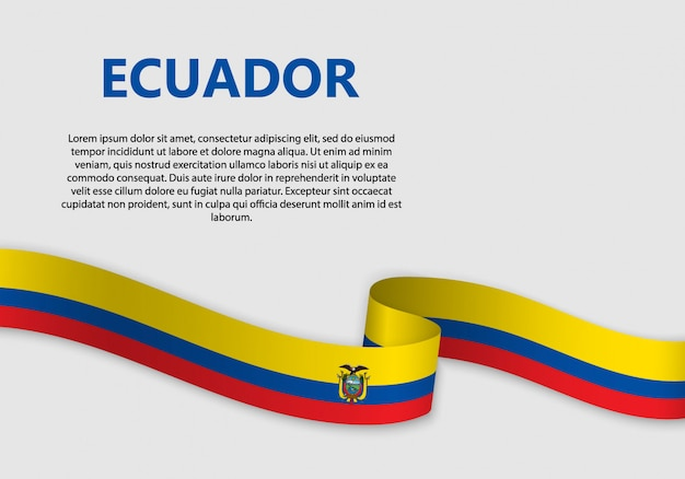 Waving flag of ecuador banner
