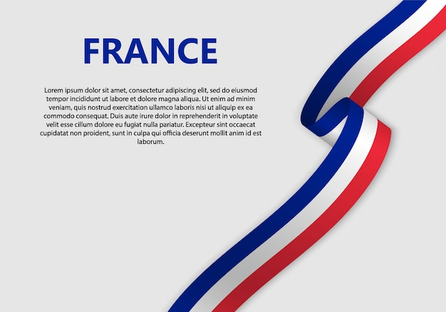 Waving flag of france banner