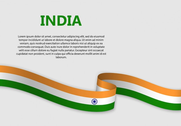 Waving flag of india banner
