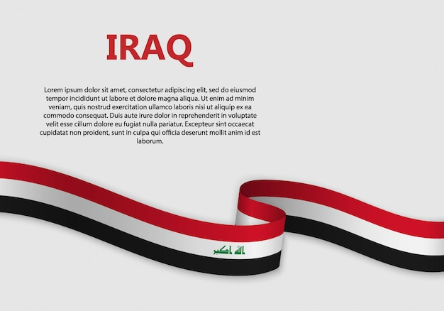 Waving flag of iraq banner