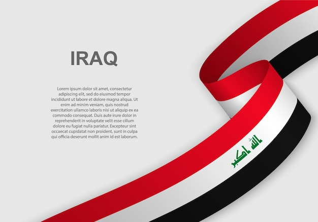 Waving flag of iraq.
