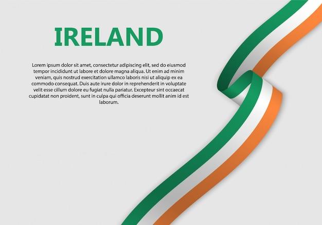 Waving flag of ireland banner