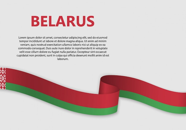 Развевающийся флаг беларуси баннер