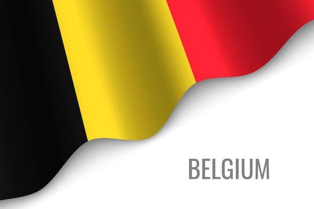 Развевающийся флаг бельгии