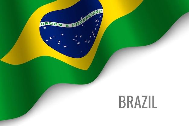 Развевающийся флаг бразилии