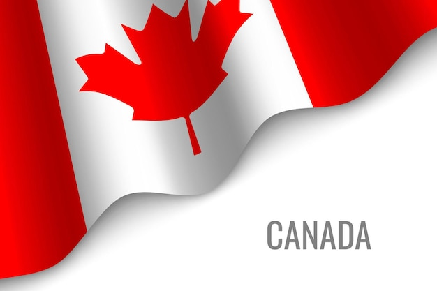 カナダの旗を振る