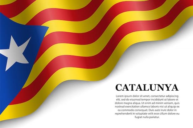 Развевающийся флаг каталонского независимого