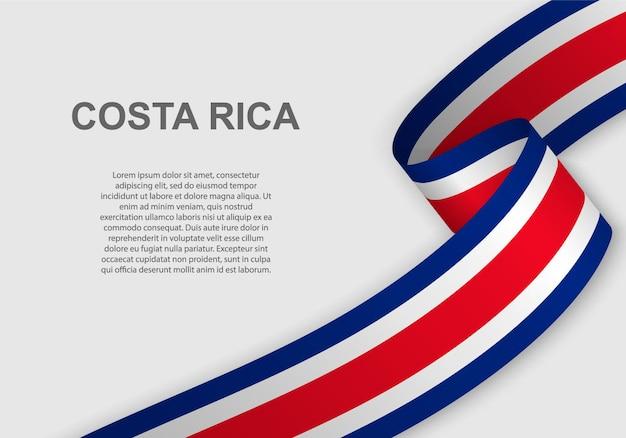 Развевающийся флаг коста-рики.