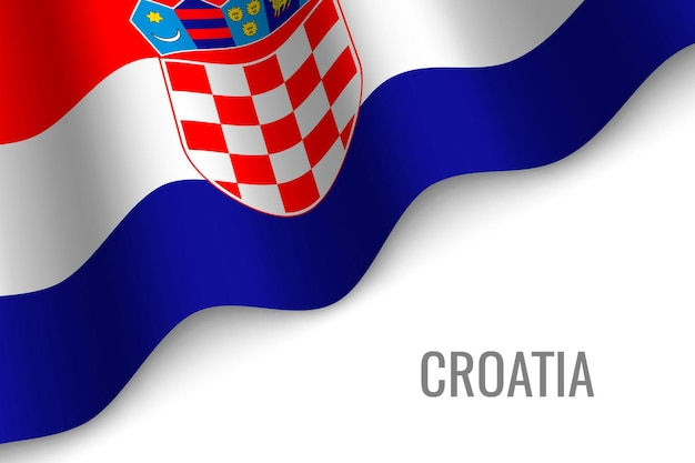 クロアチアの旗を振る