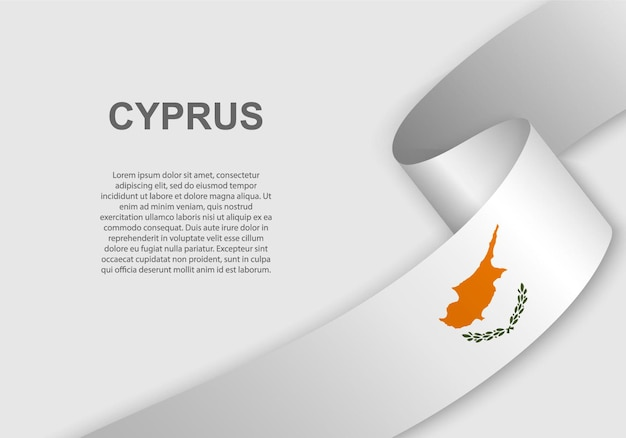 キプロスの旗を振っています。