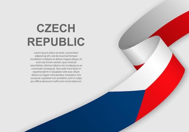 Развевающийся флаг чешской республики.