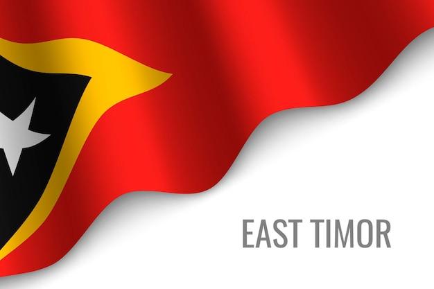 東ティモールの旗を振る