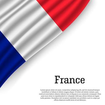 白でフランスの旗を振る